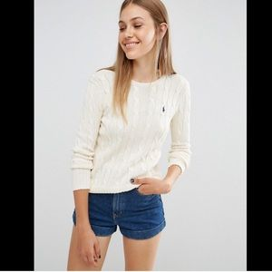 POLO RALPH LAUREN BEIGE CABLE KNIT SWEATER